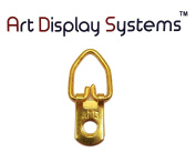 AMS 1 Hole Narrow BP D-Ring Hanger– No Screws – Pro Quality – 100 Pack by ART DISPLAY SYSTEMS