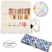 Teamoy Knitting Needles Holder Case(up to 36cm ), Cotton Canvas Rolling Organiser for Straight and Circular Knitting Needles, Crochet Hooks and Accessories, Sheep --NO ACCESSORIES INCLUDED