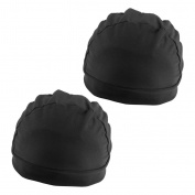 Sharplace Lot 2 Black Unisex Elastic Stretch Stocking Wig Cap Snood Mesh Hair Net Spandex