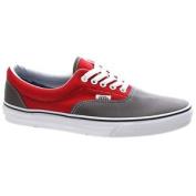 Vans Shoes. Vans Mens Shoes. Vans Era (2 Tone) Pewter/racing Red Shoe 18fi9i