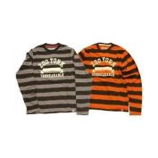Zoo York Men's City Institute L/s T-shirt Orange Small