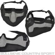 Cobra Airsoft Black V2 Full Mesh Mask Ear Protection 6mm Bb's Protection