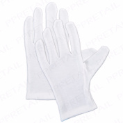 10 Pairs Moisturising White Fabric Gloves Eczema Butler Beauty Waiters
