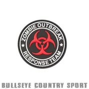 Kombat Airsoft Pvc Rubber Patch Zombie Outbreak Response Team Black Red