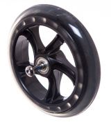 Single Replacement Scooter Wheel Kids Clear And Black (140mm) New