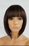 KIMS WIGS DARK BROWN LADIES WOMENS SHORT BOB STYLE WIG