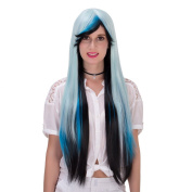Women's Long Straight Heat Resistance Halloween Cosplay Wig with Cap
