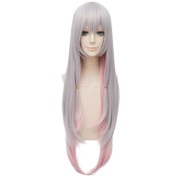 LanTing Cosplay Wig Eromanga Sensei Grey Mix Pink Long Wigs Corta Cosplay Party Fashion Anime Human Costume Full wigs Synthetic Hair Heat Resistant Fibre
