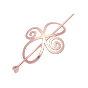 Women Knotted Flower Hairpin Barrette Hair Clip Ponytail Hair Holder