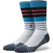 Stance Triot Athletic Fusion Socks In Blue, Men's Crew Length Striped Socks