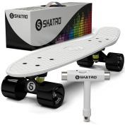 Skatro - Mini Cruiser Skateboard. 60cm x 15cm Retro Style Plastic board Comes Complete
