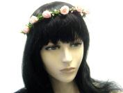 La Peach Fashions Lovely Rose Flower Headband Ladies Wedding Beach Flower Headband Floral Wreath For Festivals Head Garland