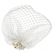 Sharplace Fascinator Lady White Birdcage Netting Blusher Veil Hair Comb Wedding Bridal