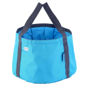 Blue OUTAD Camping Hiking Fishing Portable Camping Bucket Foldable Bucket Bag^
