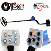 Tesoro Tejon Black Metal Detector with 28cm x 20cm Search Coil and Lifetime Warranty