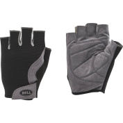 Bell Sports Breeze 300 Half Finger Mesh Cycling Gloves, Small/Medium, Black/Grey