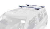 Allen Sports 130cm . Locking Aluminium Roof Bars For Vehicles with Raised Factory Roof Rails