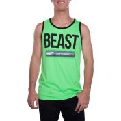 Straight Beast Big Men's Graphic Ringer Tank Top, 2XL
