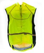 WOWOW Lrg Sleeveless Sport Jacket Cycling Wind Vest 3M High-Viz Reflective NEW