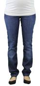 9 Fashion Maternity Xao Indigo Full-Panel Jeans Sz S