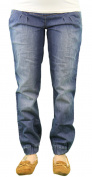 9 Fashion Maternity Bensimo Indigo Full-Panel Jeans Sz S