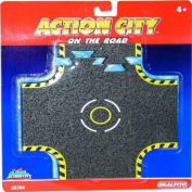 Action City On The Road Crossroad Tracks