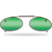 Flying Fisherman 7506Am Clip-On/L Oval, Amber-Green Mirror Lens