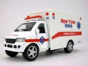 13cm New York EMS White Ambulance Scale Diecast Model
