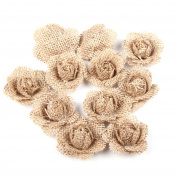 Natural Linen Flowers for Wedding Party Decoration(6pcs)
