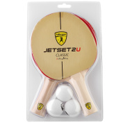 Killerspin JetSet 2U Classic Table Tennis Racket Set, Two Paddles with Three Ping Ping Balls