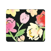 OTM Prints Black Mouse Pad, Peonies Gone Bright