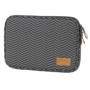 HEX Sleeve Case with Rear Pocket for Microsoft Surface 3, Black/Grey Chevron