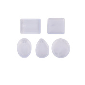 5pcs Silicone Mould for Resin Round Necklace Jewellery Pendant Making