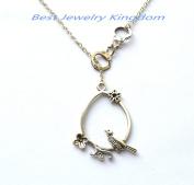 Silver Handcuff Necklace,Boyfriend Girlfriend Necklace,police jewellery,Bird Necklace, Flower Jewellery, Nature Jewellery
