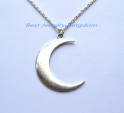 Silver Brushed Crescent Moon Necklace Dainty and Delicate Necklace Birthday Gift Wedding Jewellery Bridesmaid gift