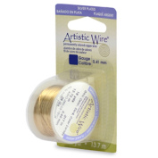 Artistic Wire 22 gauge Silver Plated Gold Colour 8 yards