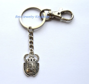 Beetle Keychain, Beetle Key Ring, Scarab Charm, gift for husband,Insect Keychain,Mens Accessories