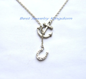 Anchor necklace,nautical jewellery,anchor jewellery,nautical necklace,dainty silver necklace,Lucky Horseshoe Necklace