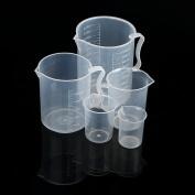 Oksale 5PCS Plastic Measuring Cup Set Beaker Set 5 Sizes 50 100 250 500 and 1000ml