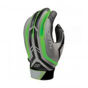 Worth Legit Fastpitch Batting Glove, Grey/Light Green, Size Medium