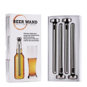 4 x Pack Beer Wand - The Ultimate Beer Chiller & Cooler for bottles. Get your Beer to its optimal temperature and keep it ice cold - no need to remove to drink or pour! Perfect beer gift!