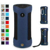 Fintie Amazon Tap Bluetooth Portable Speaker Carrying Case - Premium Vegan Leather Protective Sling Cover, Navy