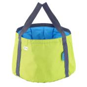 Light Green OUTAD Camping Hiking Fishing Portable Camping Bucket Foldable Bucket Bag^