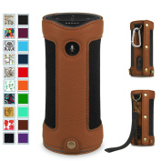 Fintie Amazon Tap Bluetooth Portable Speaker Carrying Case - Premium Vegan Leather Protective Sling Cover, Brown
