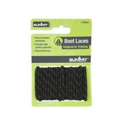 Summit 120cm Boot Laces Black - Walking Hiking Long Strong Round Braided Brown