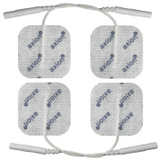 4 Electrodes / Pads 40x40mm, self adhesive. Fits all TENS EMS units with 2mm connexions