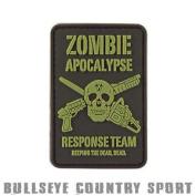Kombat Airsoft Pvc Rubber Moral Patch Zombie Apocalypse Black Green