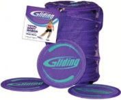 Gliding Disc Instructor pack 10 pairs discs for hardwood flooring, manuel, 1DVD and carry-bag