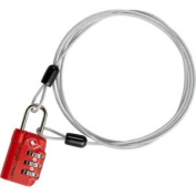 Eagle Creek 3 Dial Tsa Lock And Cable Unisex Luggage - Graphite One Size