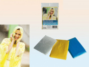 2x, Emergency Disposable Waterproof Rain Poncho With Hood Coat Cape Festivals